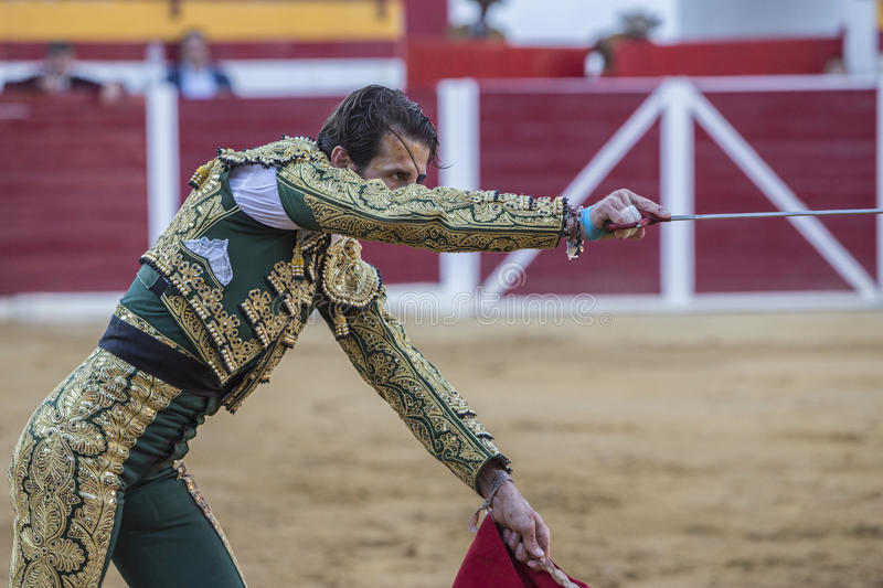 Spanish bullfighter Juan Jose padilla with sword in hand right l royalty free stock photography