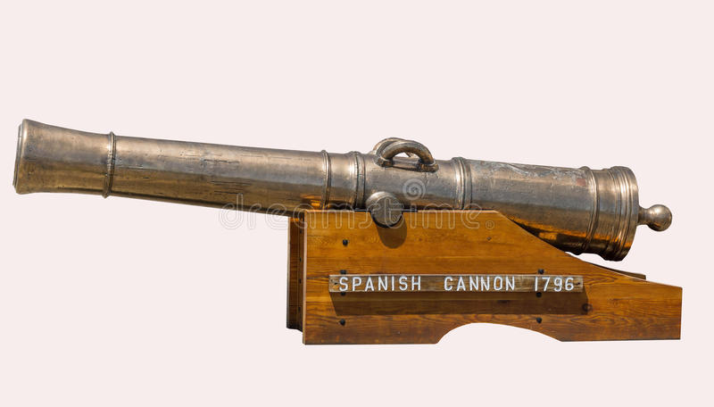 Spanish Cannon 1796 royalty free stock photography