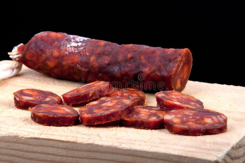 Spanish chorizo sausage stock photography