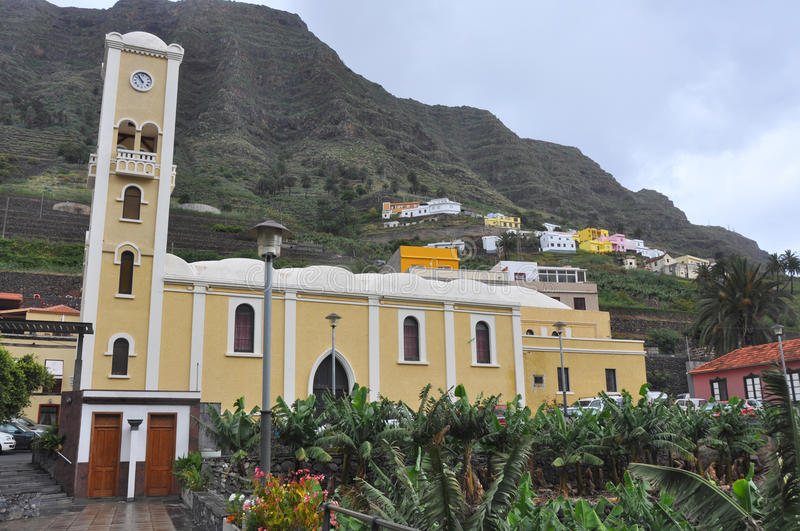 Spanish chruch. Old catholic spanish church on la gomera royalty free stock photos