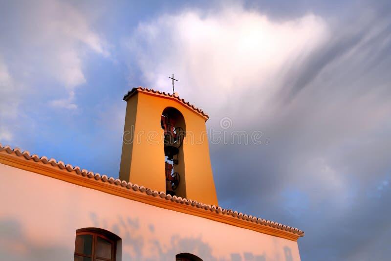 Spanish Church Sunset Stock Image