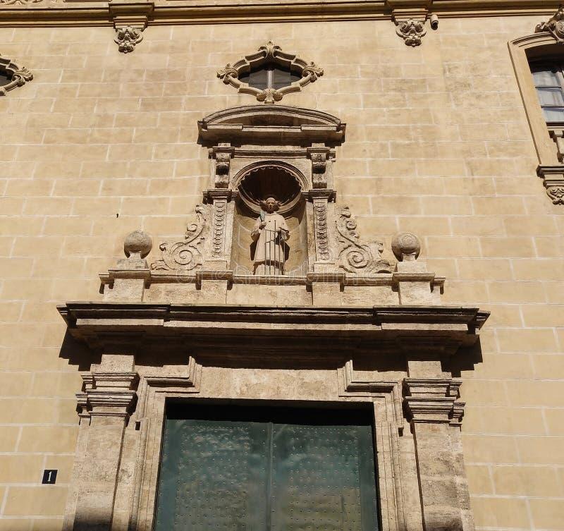 Spanish churhc in Valencia city stock photo
