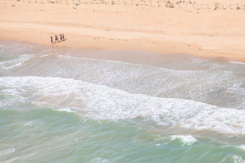Spanish coast. Beautiful beaches to walk. Spanish coast. Aerial view. Beautiful beaches to walk stock photo
