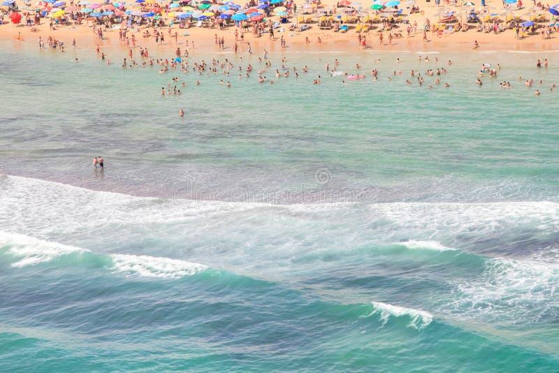 Spanish coast. Beautiful beaches to walk and enjoy. Spanish coast. Aerial view. Beautiful beaches to walk and enjoy royalty free stock photography