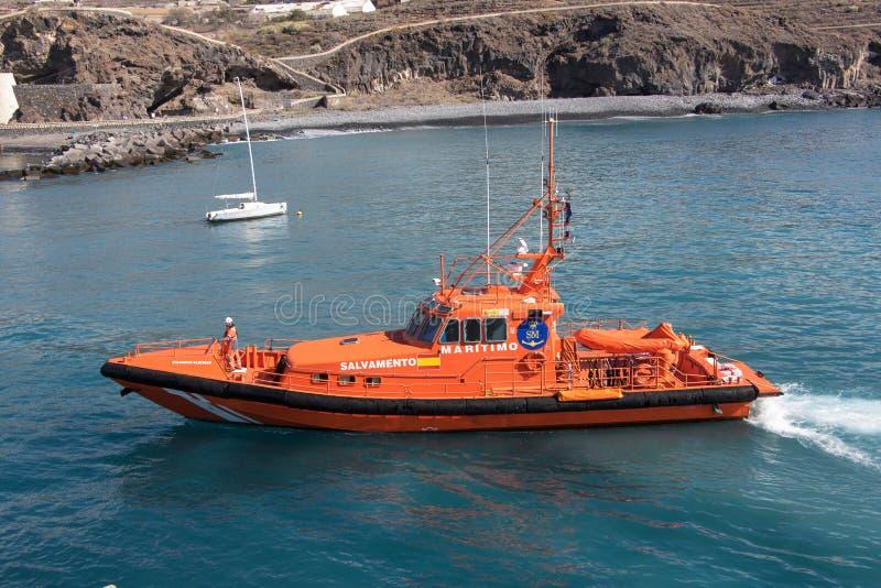 Spanish coast guard speedboat stock photo