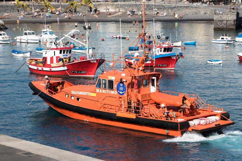 Spanish coast guard speedboat royalty free stock image