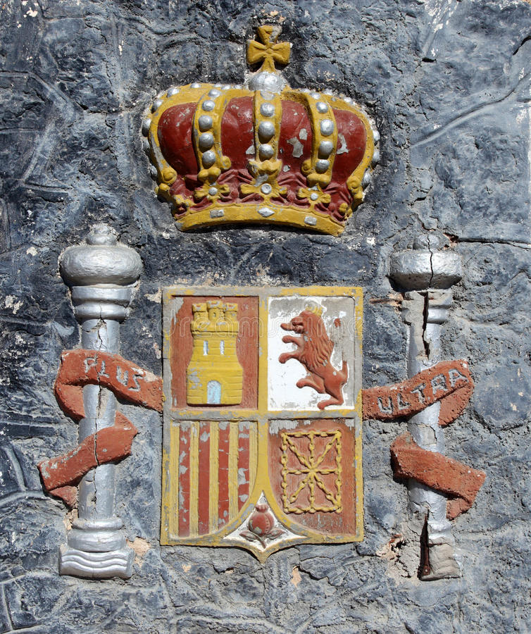 Download Spanish Coat of Arms stock image. Image of detail, arms - 24756535