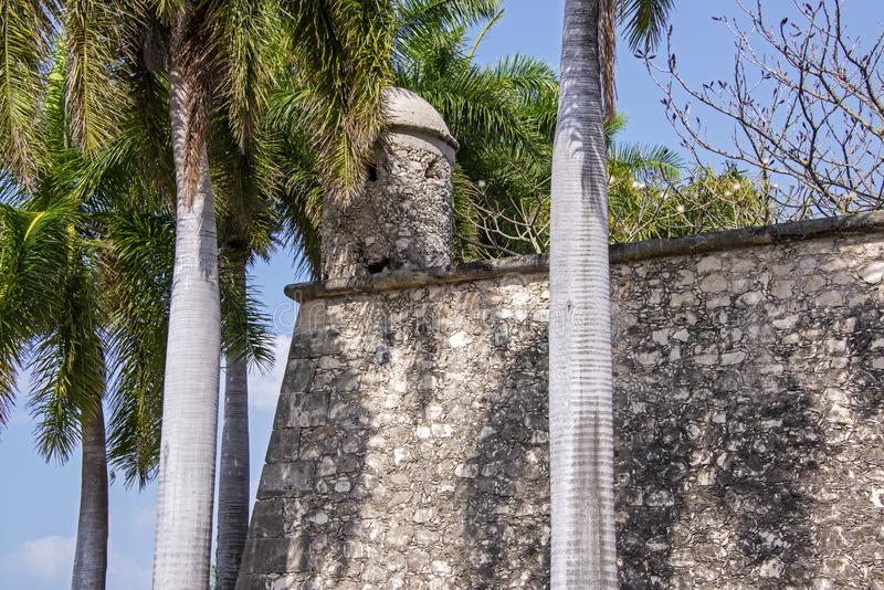 Spanish colonial defensive wall royalty free stock photo