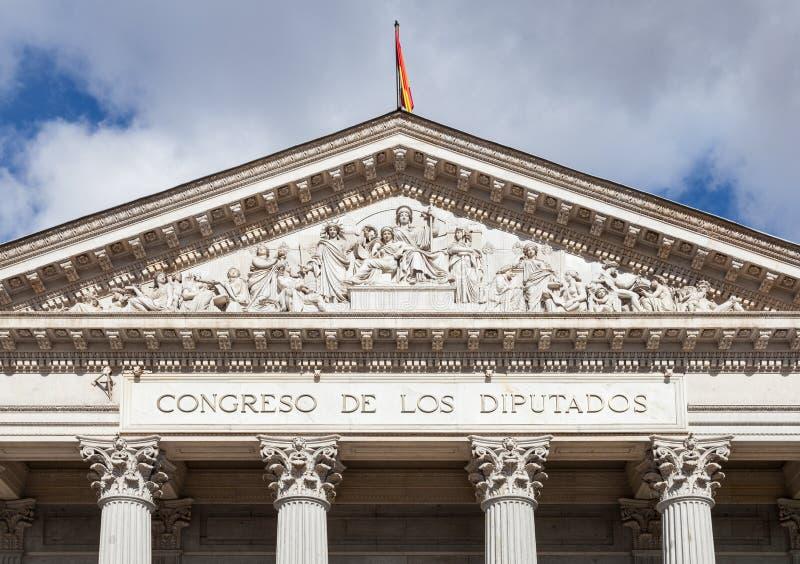 Spanish Congress of Deputies, Congreso de los Diputados, Parliament building. Madrid royalty free stock photos