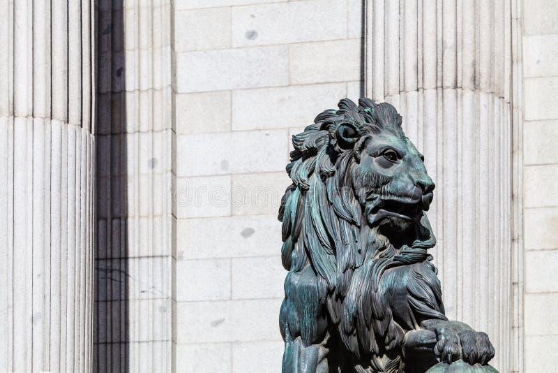 Spanish Congress of Deputies, Congreso de los Diputados, Parliament building. Madrid royalty free stock photography