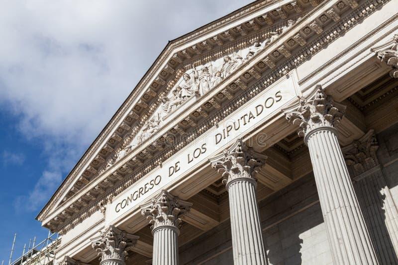Spanish Congress of Deputies, Congreso de los Diputados, Parliament building. Madrid stock photography