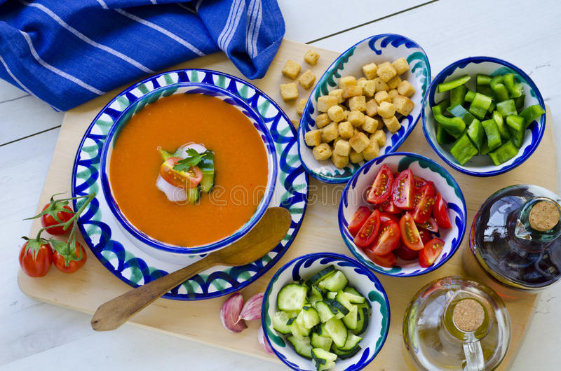 Spanish Cuisine. Gazpacho. royalty free stock images