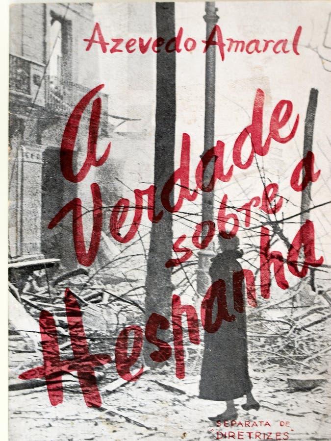 spanish cywilna wojna Książkowy ` prawda o Hiszpania fotografia stock