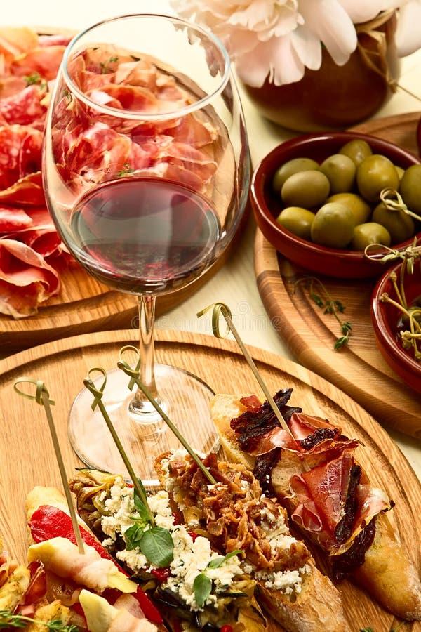 Spanish dinner prepared stock photography