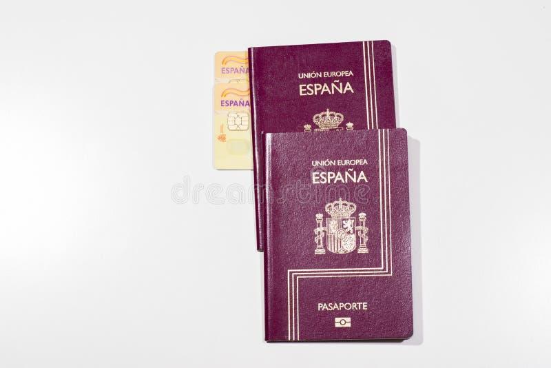 Spanish documentation. Spanish passports and identity cards royalty free stock photography