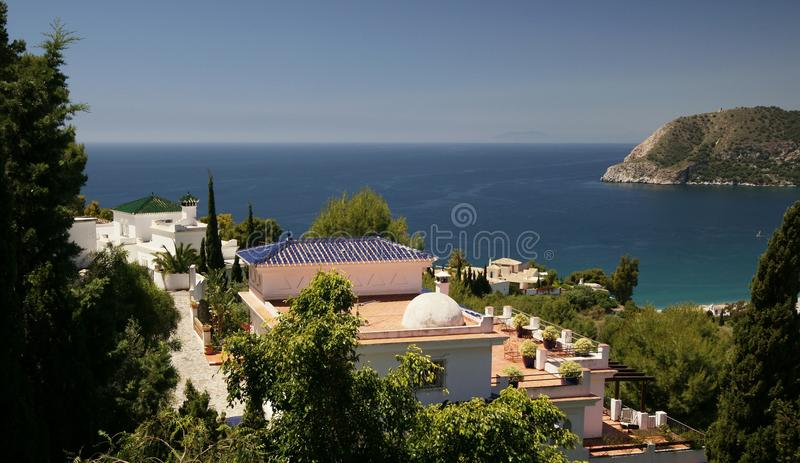 Spanish Dream Homes. Some dream homes on the Spanish Mediterranean high above the town of La Herradura stock image