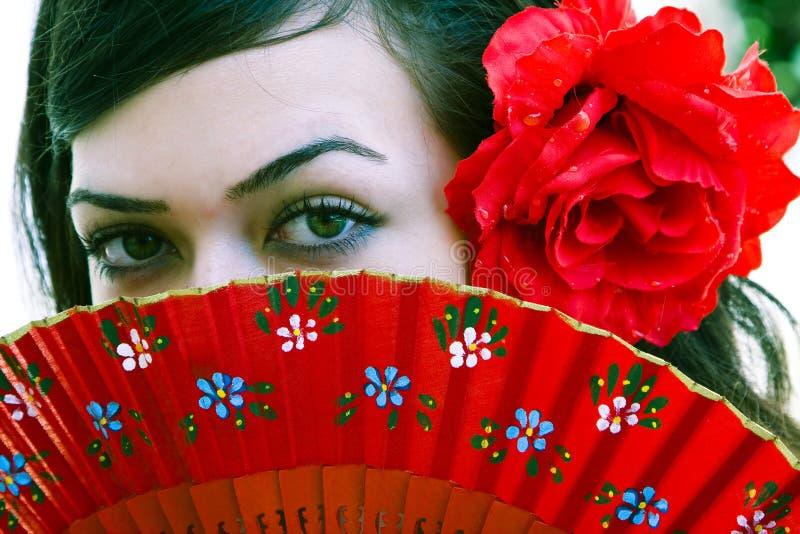 Spanish eyes stock photo