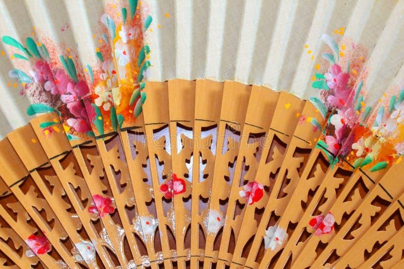Spanish Fan Detail Travel Symbol royalty free stock image