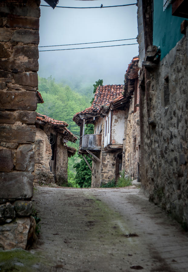 Spanish farm village. Traditional Spanish farming village in the mountains royalty free stock images