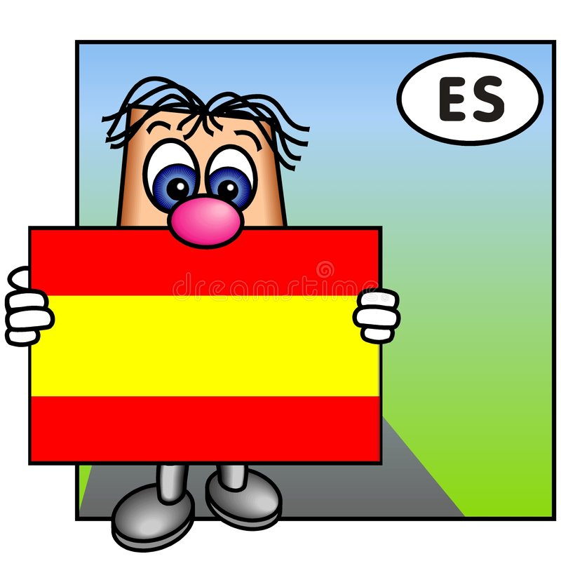 The Spanish Flag royalty free stock photography