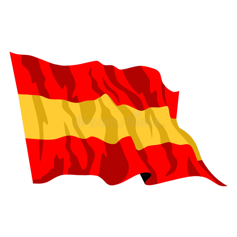 Download Spanish Flag stock vector. Image of nation, star, spanish - 5753438