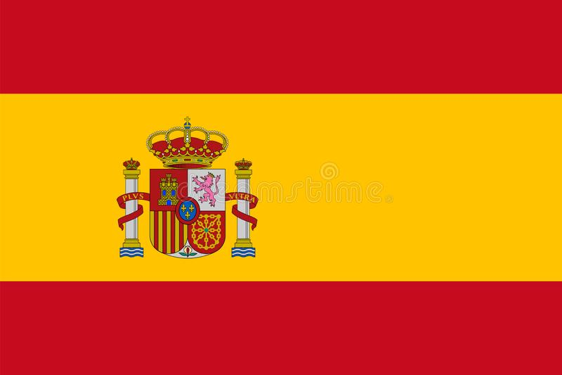 Spanish flag. royalty free illustration