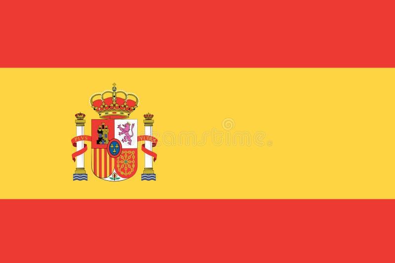 Spanish Flag Flag of Spain stock vector. Illustration of moving - 136931125