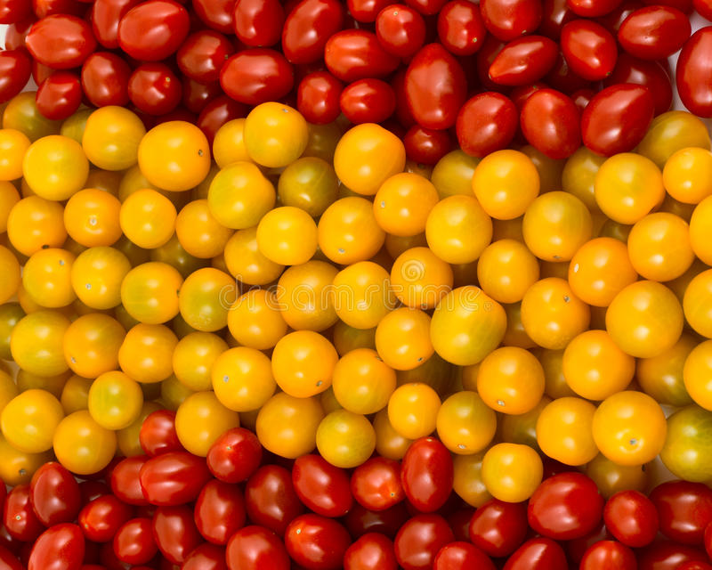 Spanish flag formed of cherry tomatoes royalty free stock image