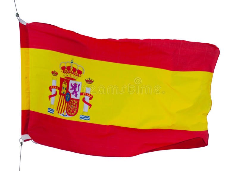 Spanish flag isolated royalty free stock photography