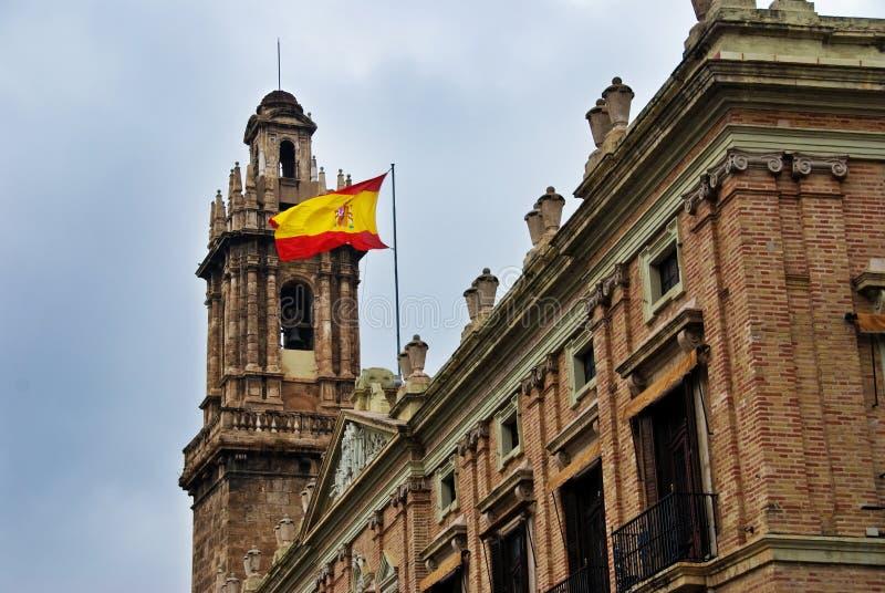 Spanish Flag Valencia Spain stock image