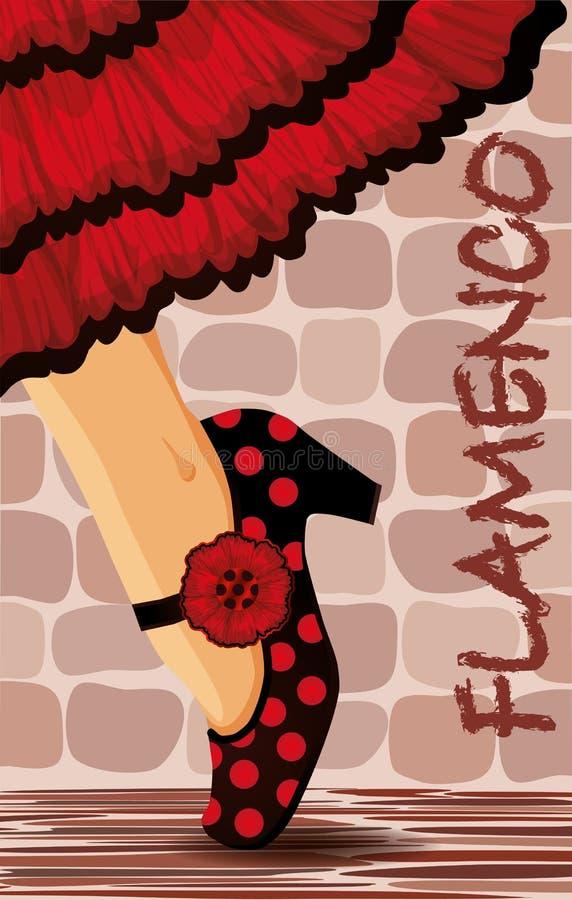 Spanish Flamenco Dance Card Royalty Free Stock Image