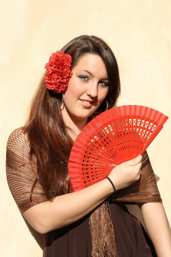 Spanish flamenco dancer. Spanish traditional flamenco dancer in spain stock image