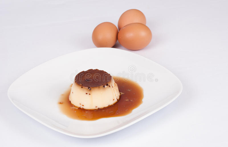 Download Spanish flan stock photo. Image of copy, sweet, plate - 28486326
