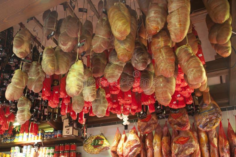 Spanish Gammon. Spanish gourmet gammon on a market im Majorca, Spain royalty free stock images