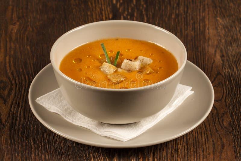 Spanish gazpacho soup stock photos