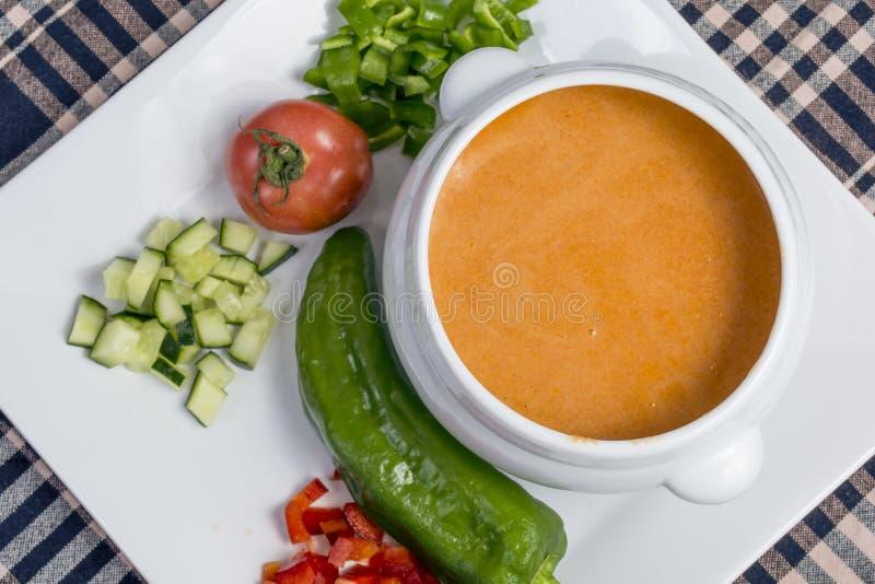Spanish Gazpacho stock photos