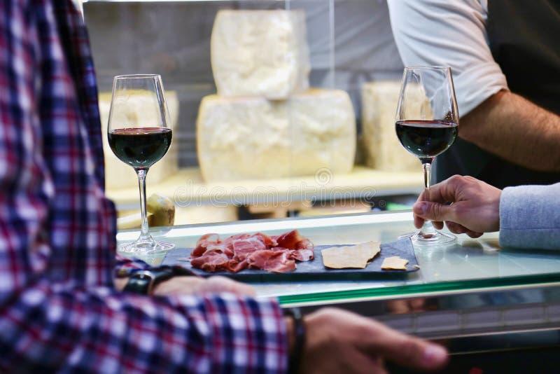 Spanish gourmet market stock images