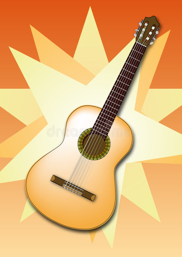 Download Spanish Guitar stock vector. Image of sound, happy, hand - 5637445