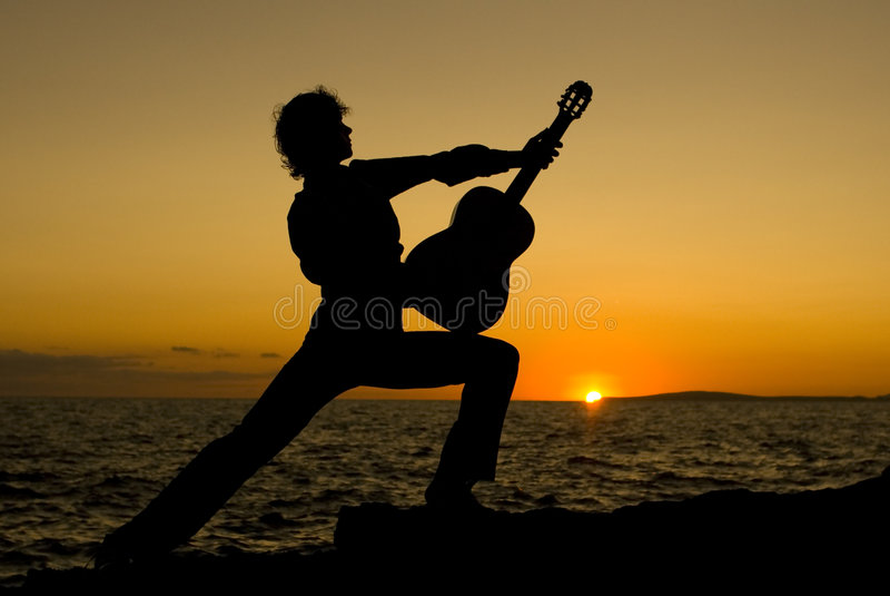 Spanish guitarist royalty free stock photos