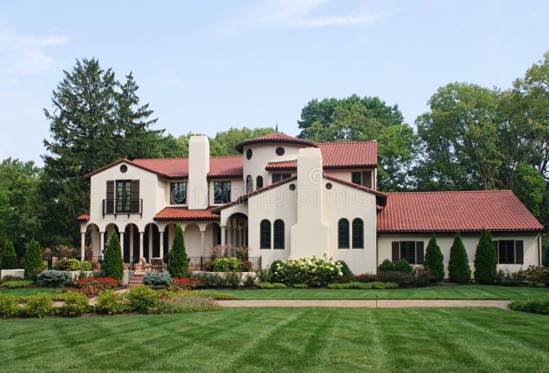 Spanish hacienda stock image image of exterior homes for Case in stile ranch hacienda