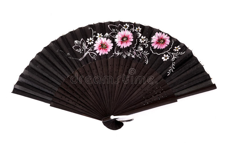 Spanish hand fan royalty free stock photo