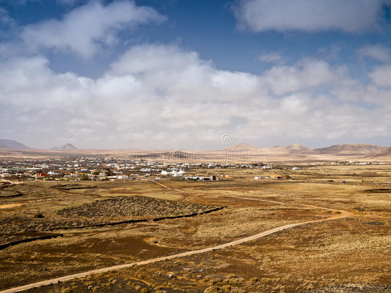 Spanish Hilly Countryside Landscape In Haze Stock Photography