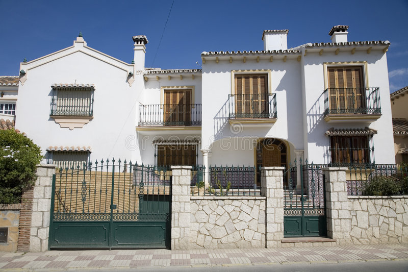 Spanish house. Typical suburban house in Spain stock image