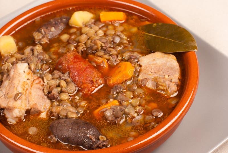 Download Spanish lentil stew stock image. Image of vegetables - 26472297
