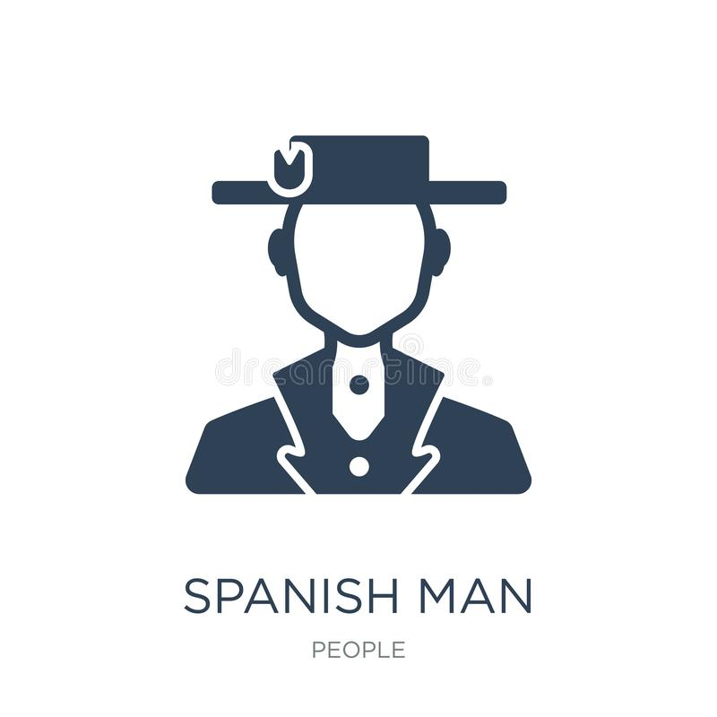 spanish man icon in trendy design style. spanish man icon isolated on white background. spanish man vector icon simple and modern vector illustration