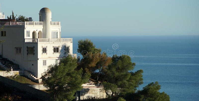 Spanish Mansion. A mansion on the Mediterranean coast near the Andalusian town of La Herradura royalty free stock image