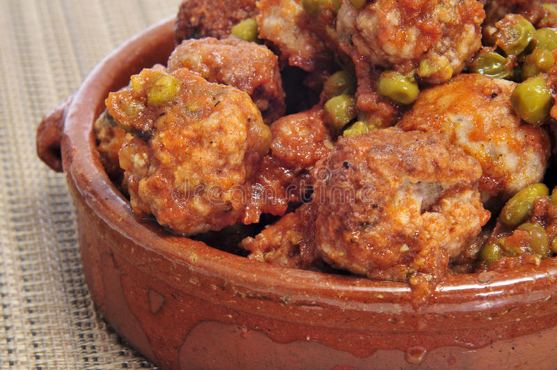 Download Spanish meatballs stock photo. Image of green, kefta - 26431746
