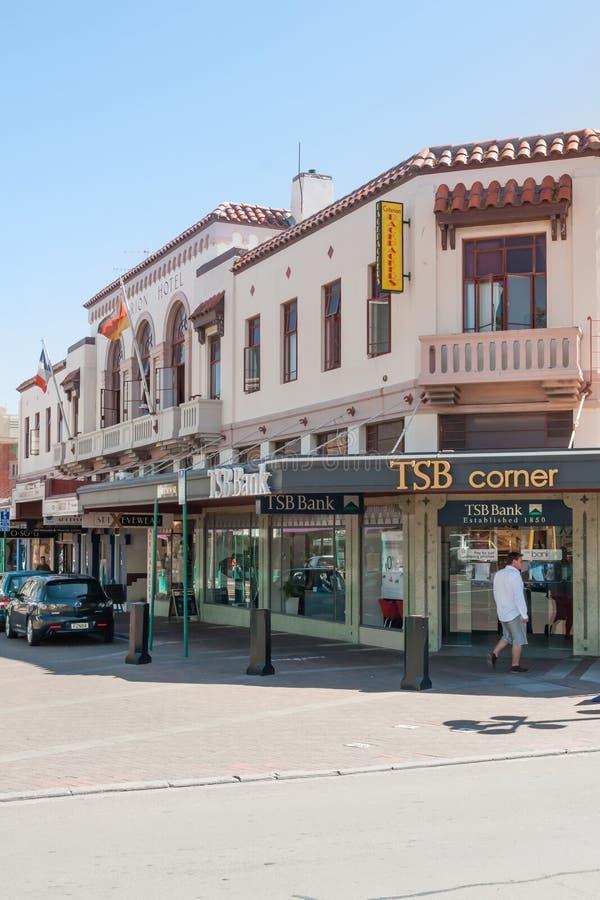 Spanish Mission Style Buildings Napier stock photo