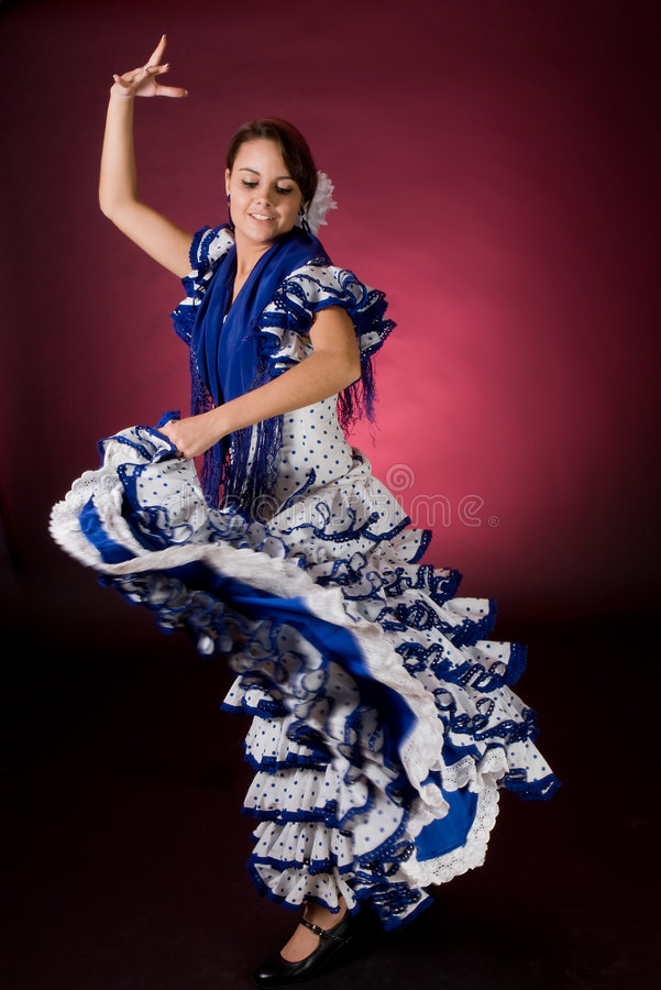 Spanish Motion In Blue Royalty Free Stock Photography