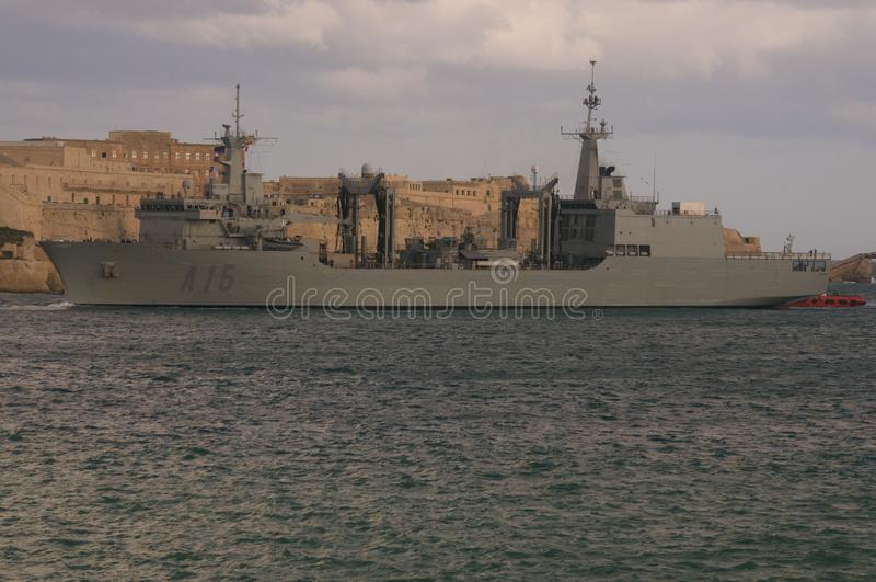 Spanish Navy Oiler royalty free stock photo